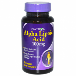 Alpha Lipoic Acid, 100 mg 100 Caps