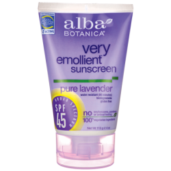 Very Emollient Sunscreen SPF 45  Pure Lavender, 4 oz (113 grams) Lotion