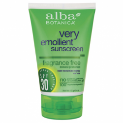 Very Emollient Sunscreen  Fragrance Free  SPF 30, 4 oz (113 grams) Lotion