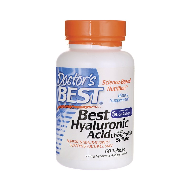 Best Hyaluronic Acid with Chondroitin Sulfate, 60 Tabs