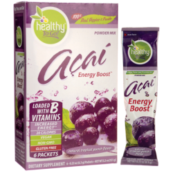 Acai Natural Energy Boost Tropical Punch, 6 Pkts