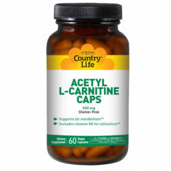 Acetyl LCarnitine Caps, 500 mg 60 Veg Caps