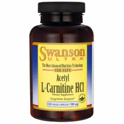 Acetyl LCarnitine HCl, 500 mg 120 Veg Caps