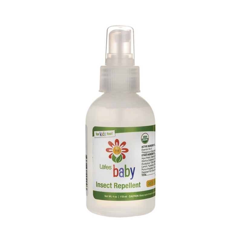 Natural And Organic Baby Insect Repellent 4 Oz Liquid