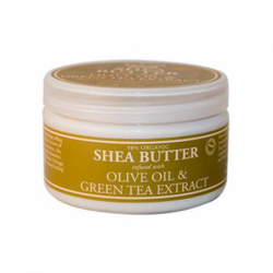 Shea Butter Infused with Olive Oil & Green Tea Extract, 4 oz Cream