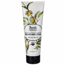 Organic Body Lotion  Almond Vanilla, 8 fl oz Lotion