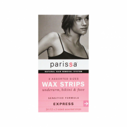 Wax Strips Sensitive Assorted Sizes, 24 Ct