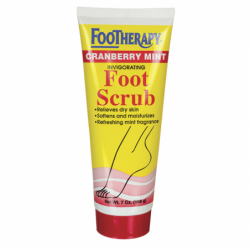 Footherapy Cranberry Mint Foot Scrub, 7 oz Scrub