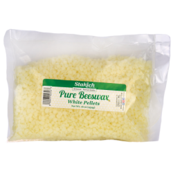 Pure Beeswax  White Pellets, 16 oz (454 grams) Pellets