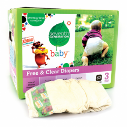 Free & Clear Diapers Stage 3, 62 Ct