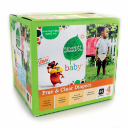 Free & Clear Diapers Stage 4, 54 Ct