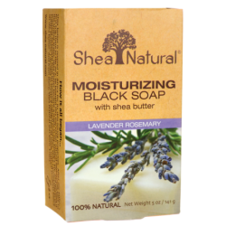 Cleansing Black Soap with Shea Butter  Lavender Rosemary, 5 oz (141 grams) Bar(s)