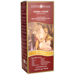 Henna Cream With Plant Extracts Hair Color  Light Blonde, 1 Box