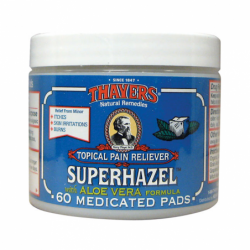 Super Hazel Pads with Aloe Vera, 60 Ct