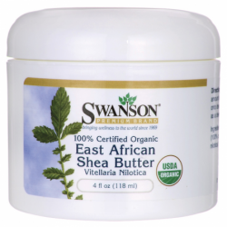 100 Certified Organic East African Shea Butter, 4 fl oz (118 ml) Solid Oil