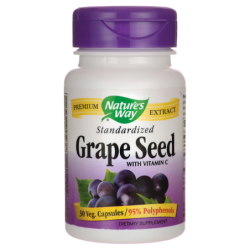 Standardized Grape Seed with Vitamin C, 30 Veg Caps