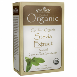 Stevia Extract  Certified Organic CalorieFree Sweetener, 75 Pkts