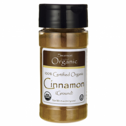 100 Certified Organic Cinnamon Ground, 1.5 oz (42.5 grams) Pwdr