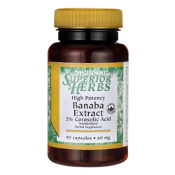 High Potency Banaba Extract 2 Corosolic Acid, 60 mg 90 Caps