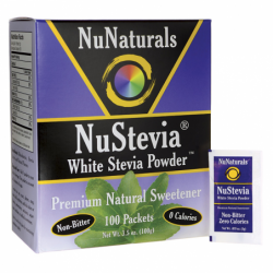 NuStevia White Stevia Powder, 100 Pkts