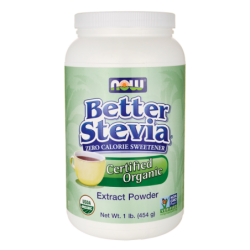 Better Stevia Certified Organic Extract Powder, 1 lb (454 grams) Pwdr
