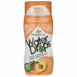 SweetLeaf Water Drops Stevia Water Enhancer PeachMango, 2.1 fl oz (64 mL) Liquid