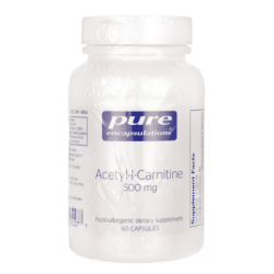 AcetylLCarnitine, 500 mg 60 Veg Caps