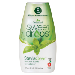 SweetLeaf Sweet Drops Liquid Stevia  SteviaClear, 1.7 oz (50 mL) Liquid