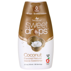 SweetLeaf Sweet Drops Liquid Stevia  Coconut, 1.7 oz (50 mL) Liquid