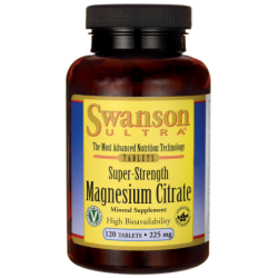 SuperStrength Magnesium Citrate, 225 mg 120 Tabs
