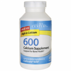 600 Calcium Supplement, 600 mg 400 Tabs
