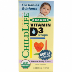 Organic Vitamin D3 Drops for Babies & Infants  Berry, 0.338 fl oz (10 mL) Liquid