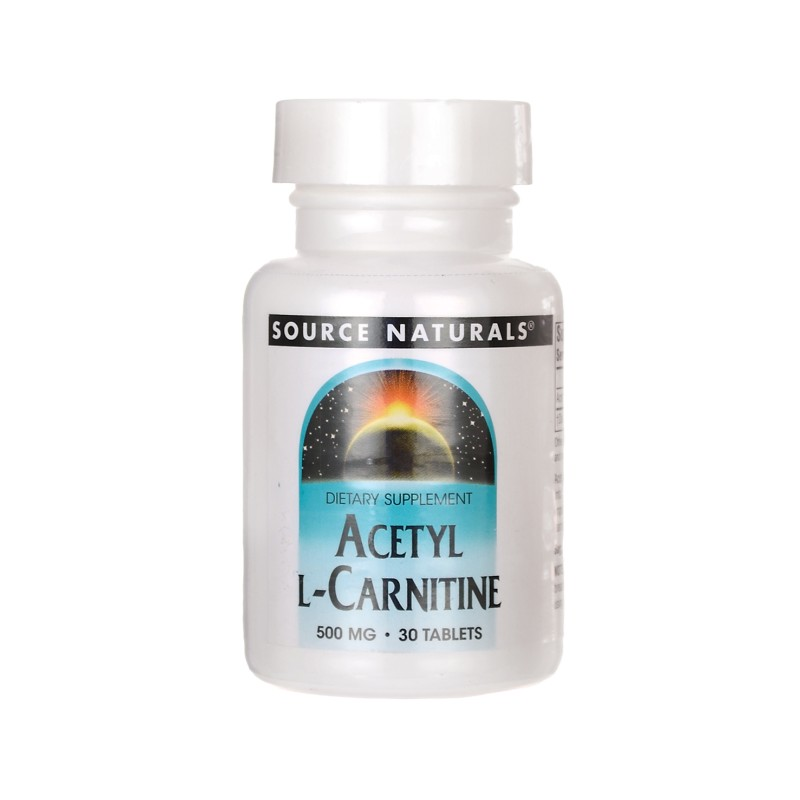 Acetyl LCarnitine, 500 mg 30 Tabs