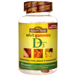 Adult Gummies Vitamin D3, 90 Gummies
