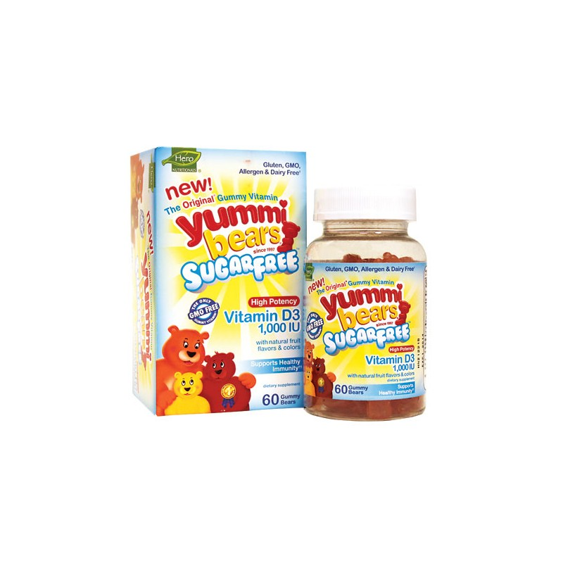Yummi Bears Sugar Free Vitamin D3, 1,000 IU 60 Gummies