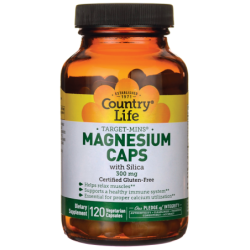 TargetMins Magnesium Caps with Silica, 300 mg 120 Veg Caps