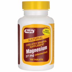 Chelated Magnesium, 27 mg 100 Tabs