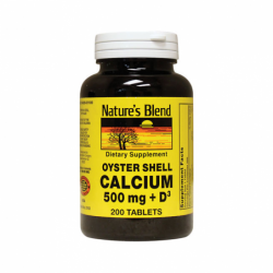 Oyster Shell Calcium with D3, 200 Tabs