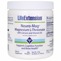 NeuroMag Magnesium LThreonate with Calcium and Vitamin D3, 7.94 oz (225 grams) Pwdr