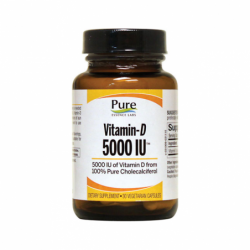 VitaminD, 5,000 IU 30 Veg Caps