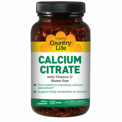 Calcium Citrate with Vitamin D, 120 Tabs