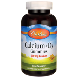 Calcium  D3 Gummies  Natural Fruit Flavors, 60 Gummies