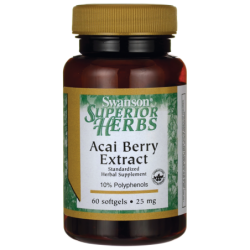 Acai Berry Extract, 25 mg 60 Sgels