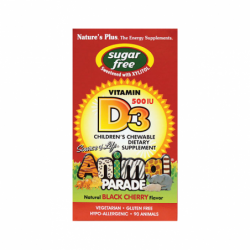 Animal Parade Sugar Free Vitamin D3, 500 IU 90 Chwbls