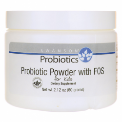 Probiotic Powder with FOS for Kids, 2.1 oz (60 grams) Pwdr