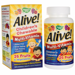 Alive Childrens MultiVitamin Orange & Berry, 120 Chwbls