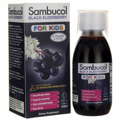 Black Elderberry Syrup for Kids, 4 fl oz (120 mL) Liquid