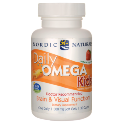 Daily Omega Kids  Natural Strawberry, 30 Sgels