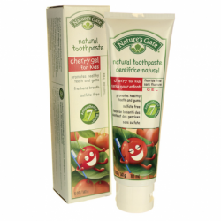 Natural Toothpaste Cherry Gel for Kids, 5 oz Paste