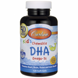 Kids Chewable DHA  Orange, 100 mg 120 Sgels